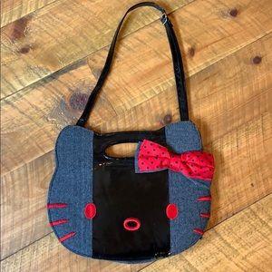 Hello Kitty herringbone clutch handbag w/ strap